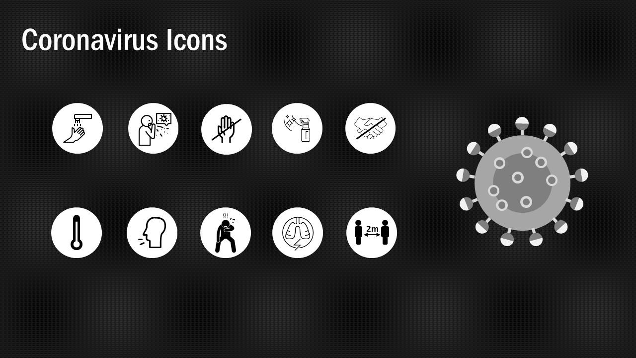 covid-19 infographics presentation design