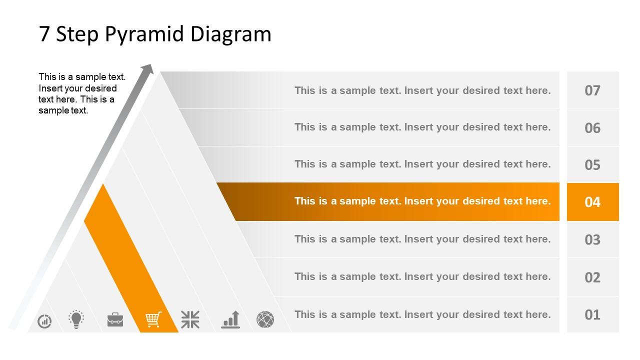 Level 4 Pyramid Diagram Template