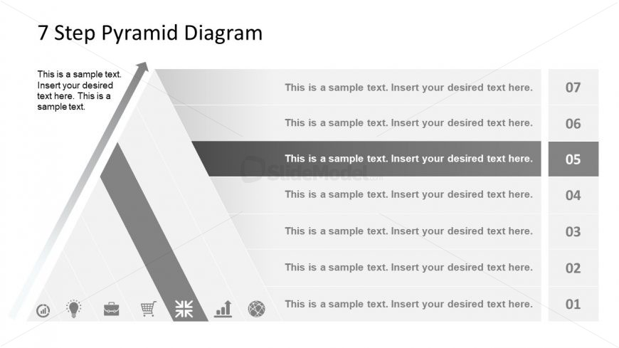 Level 5 Pyramid Diagram Template