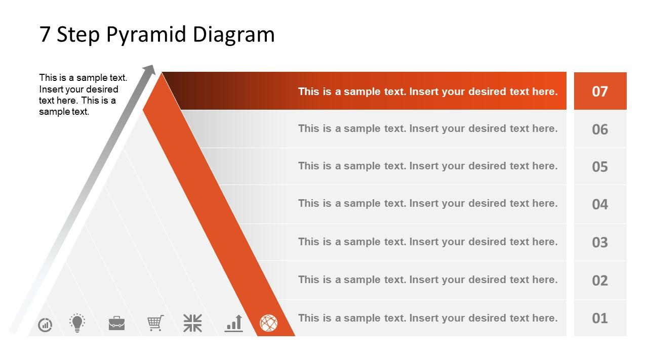 Level 7 Pyramid Diagram Template
