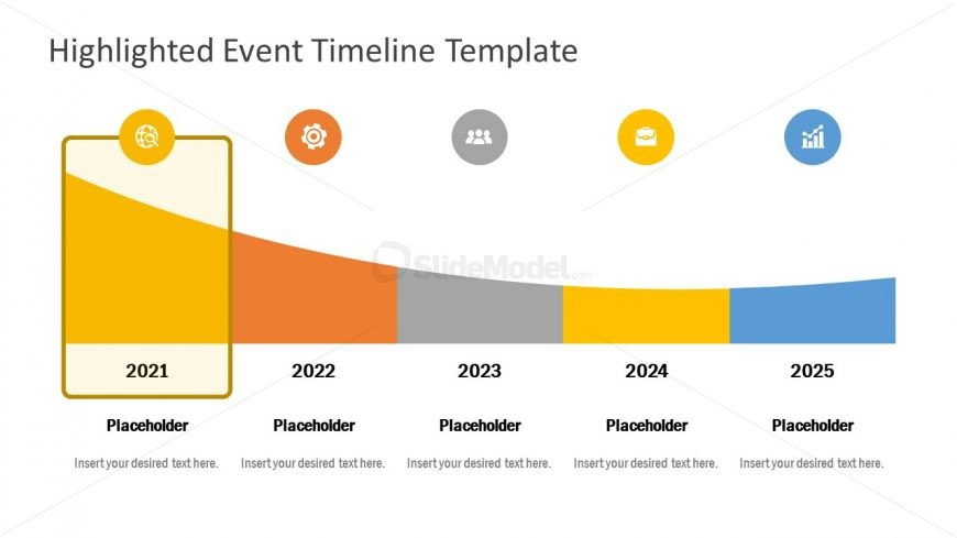 Free Template of Highlighted Timeline
