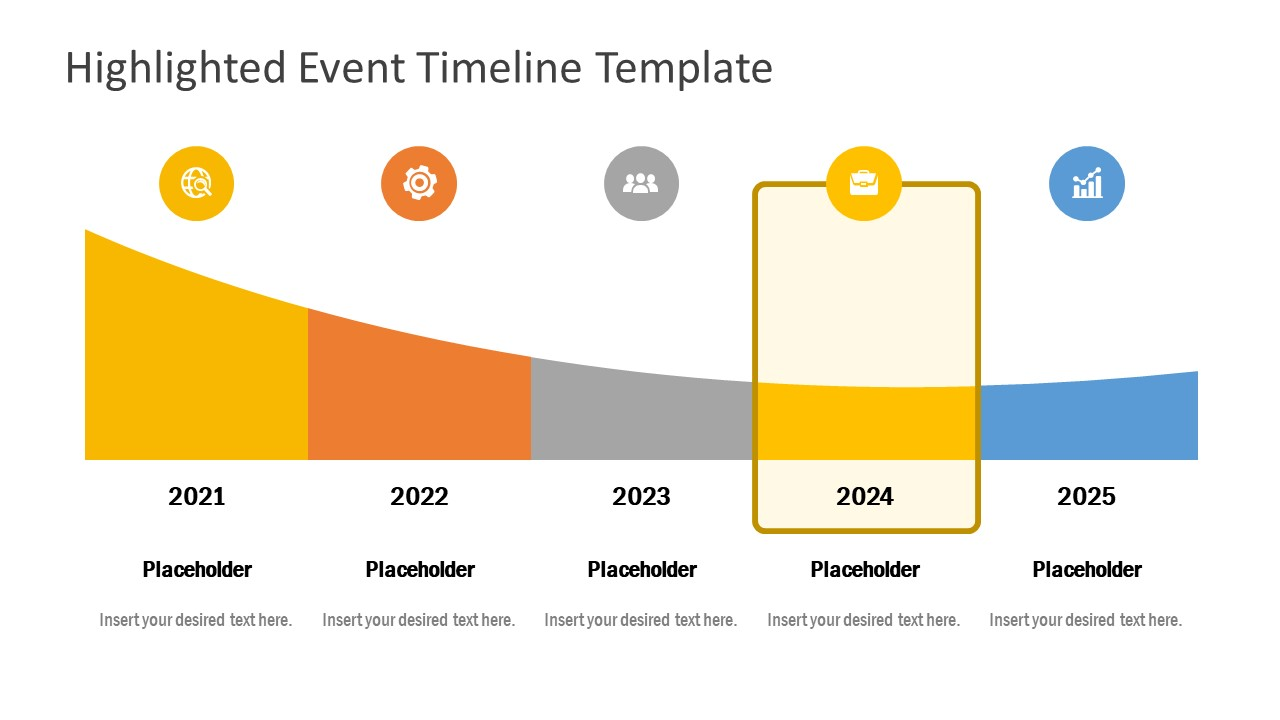 Infographic PowerPoint Highlighted Timeline