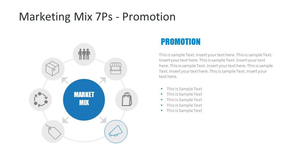 Promotion Segment of 7 P's Marketing Mix