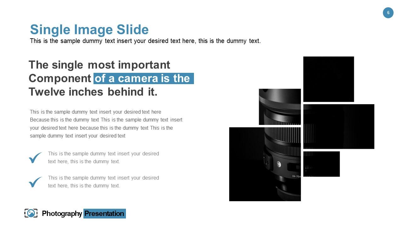 Camera Information Template Design