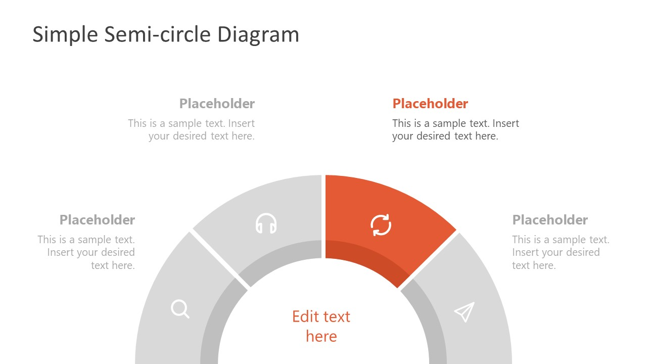 Circular Diagram of Semi-Circle PowerPoint