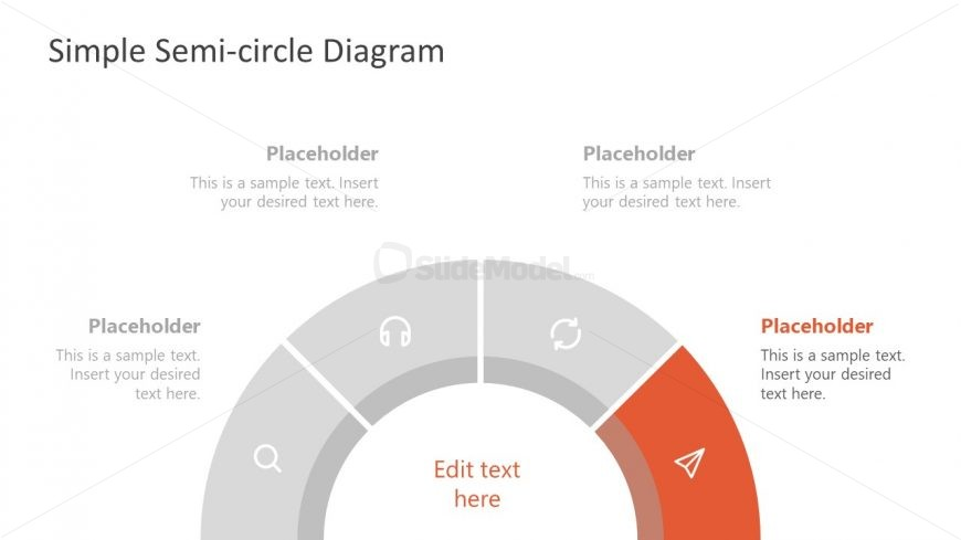 4 Items Semi-circle Presentation