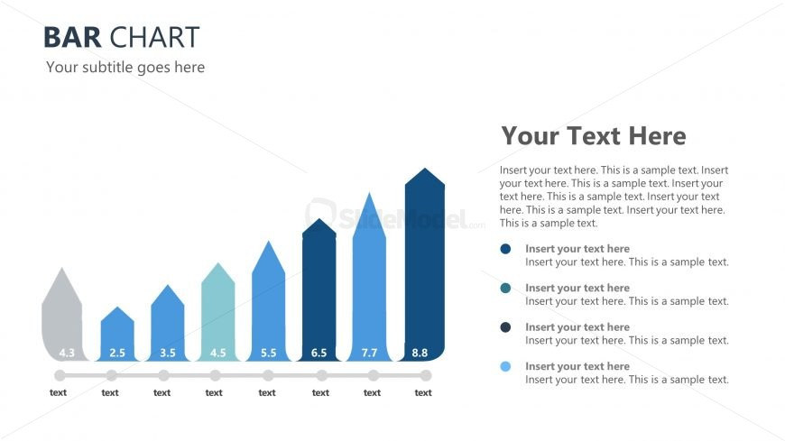 Blue Theme Template of bar Charts