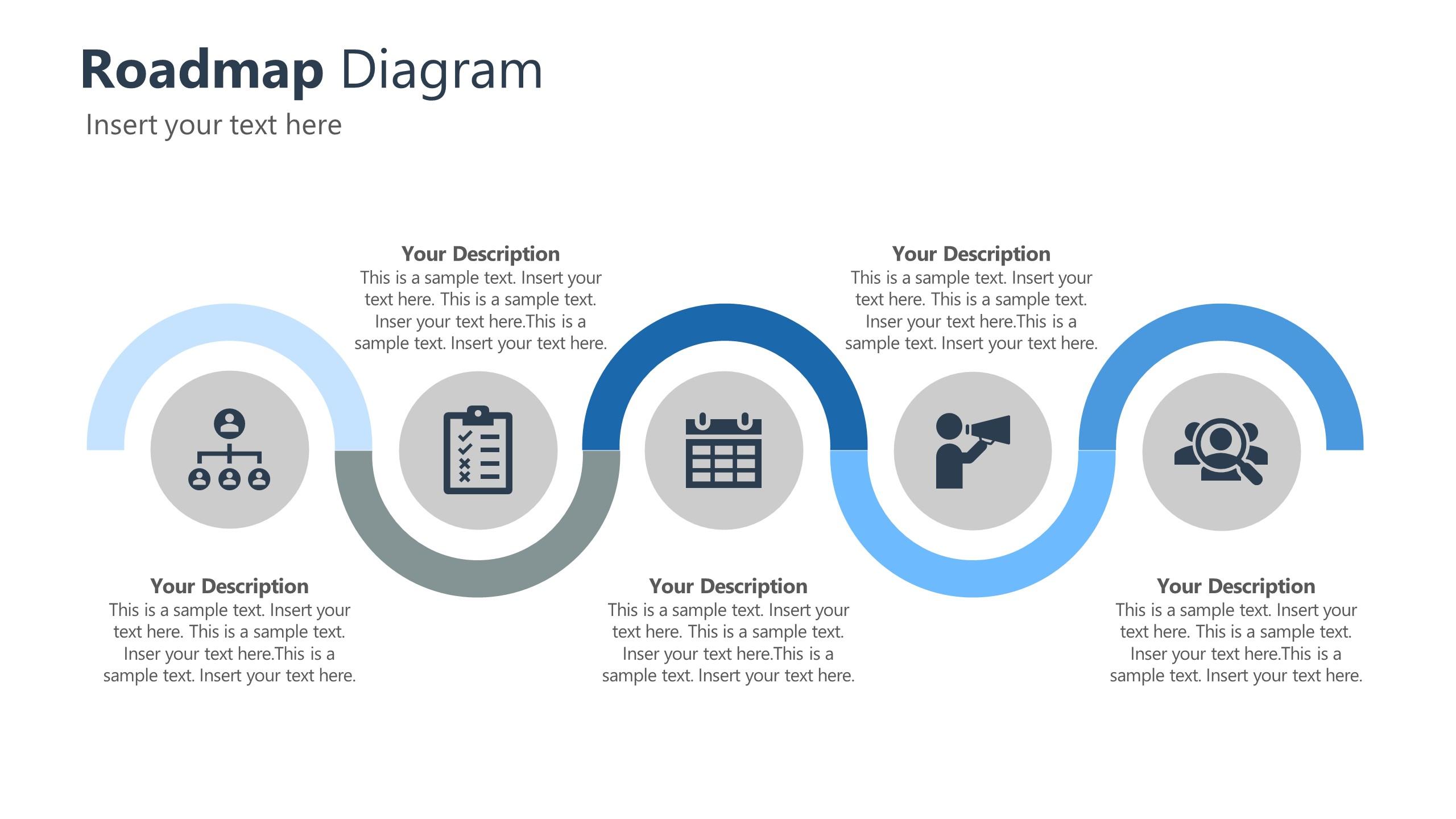 Roadmap Diagram Template for Corporate