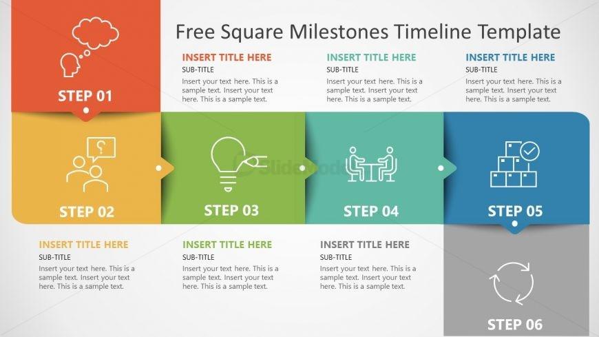 6 Steps Timeline and Planning Diagram