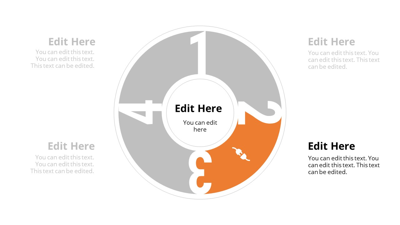4 Items Circular Diagram PowerPoint