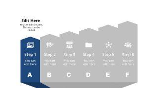 Arrow Shape Diagram Template Step 1