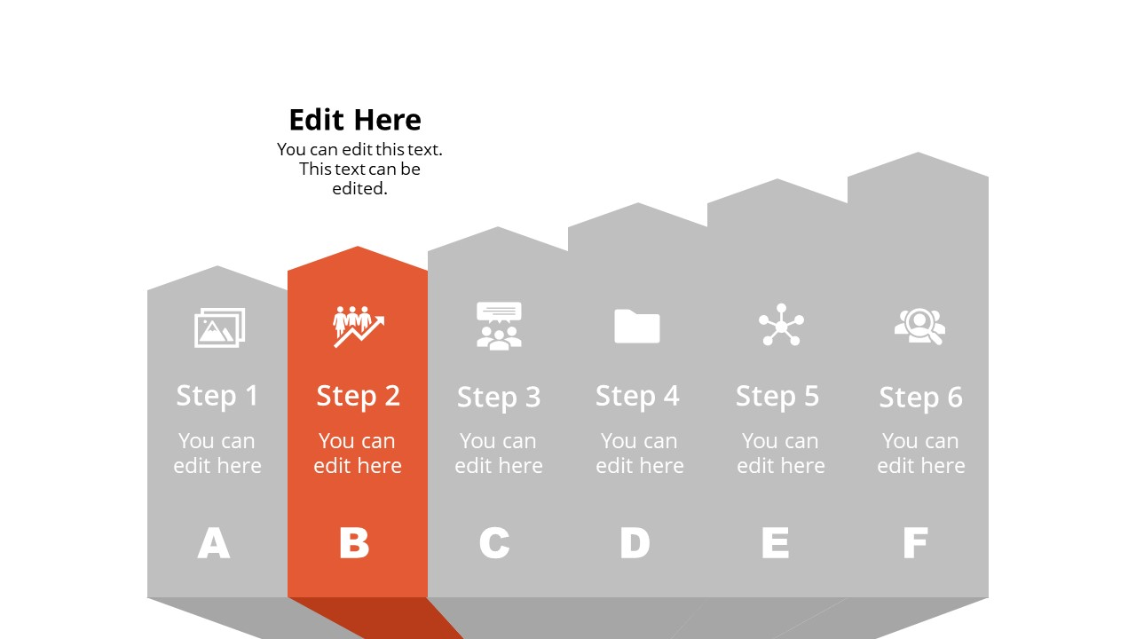 Arrow Shape Diagram Template Step 2