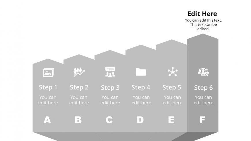 Arrow Shape Diagram Template Step 6