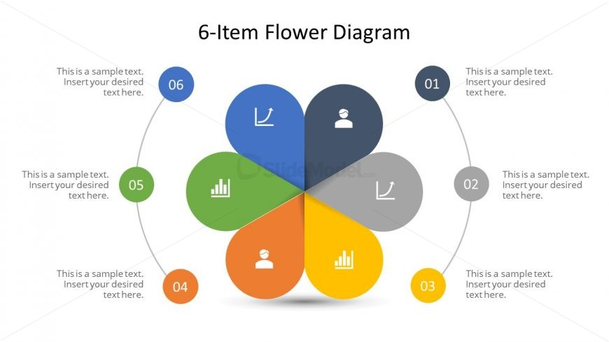 Free Slide of Flower Design Diagram