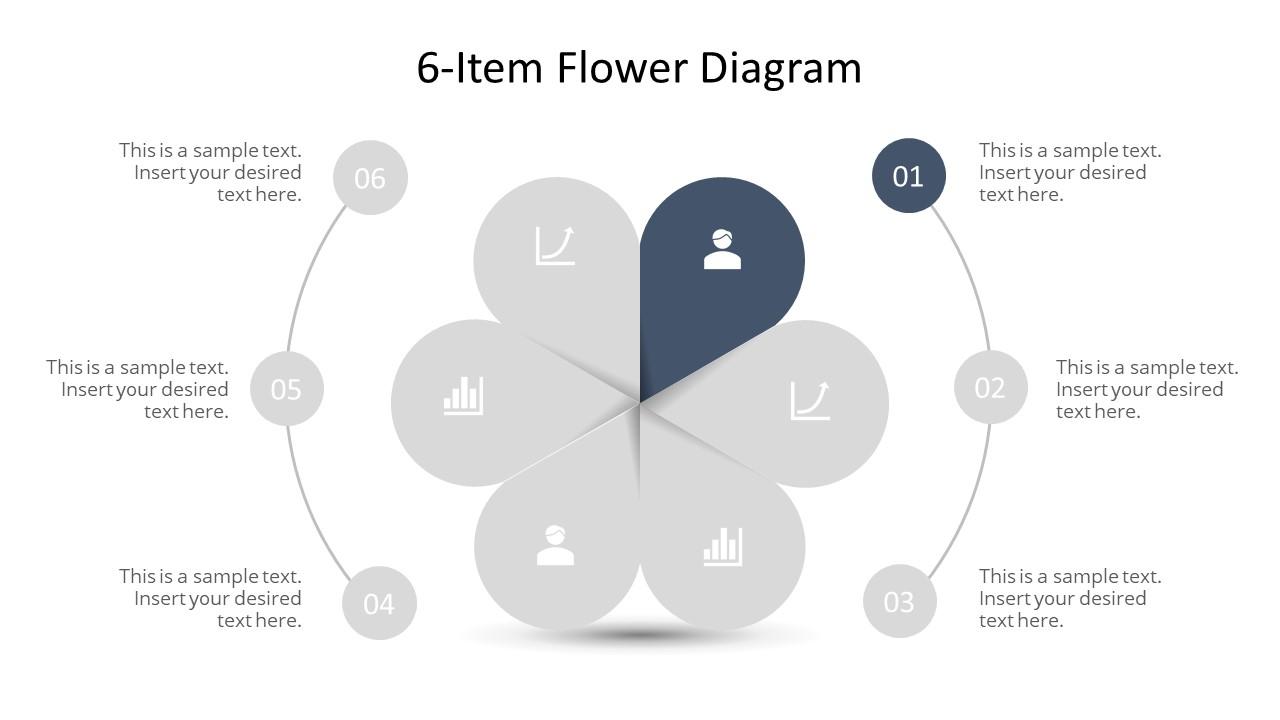 Template of Flower Petals Design