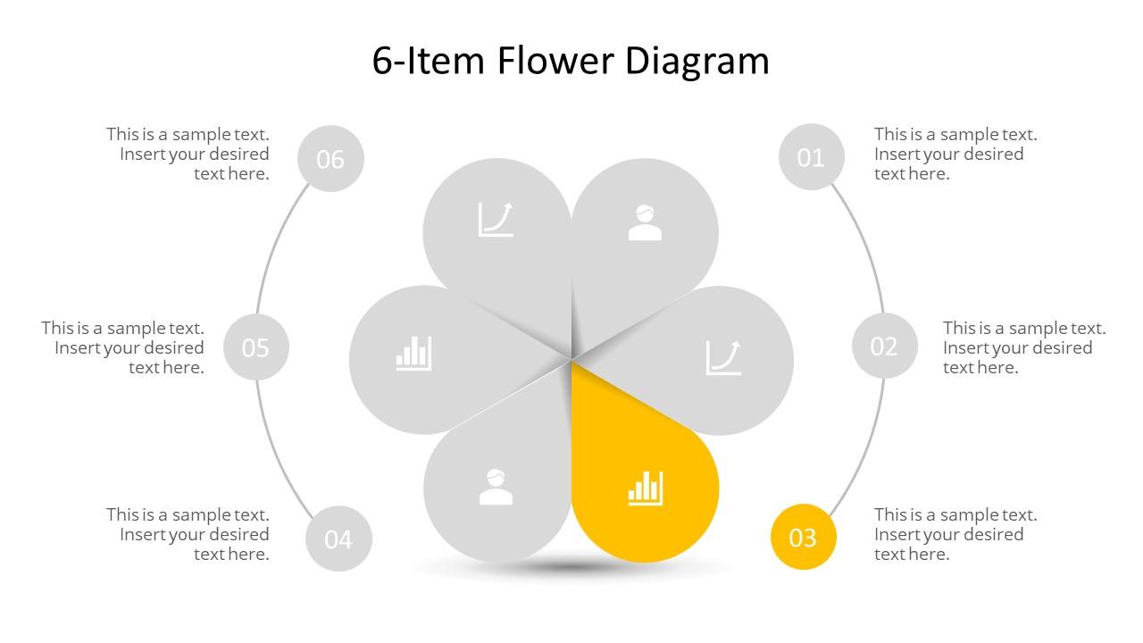 Flower Shape Circular Diagram
