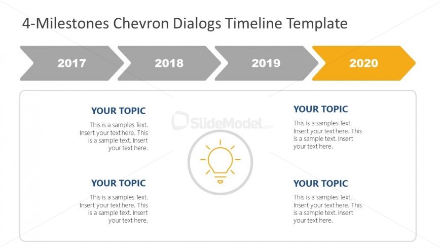 Flat Business Timeline PowerPoint