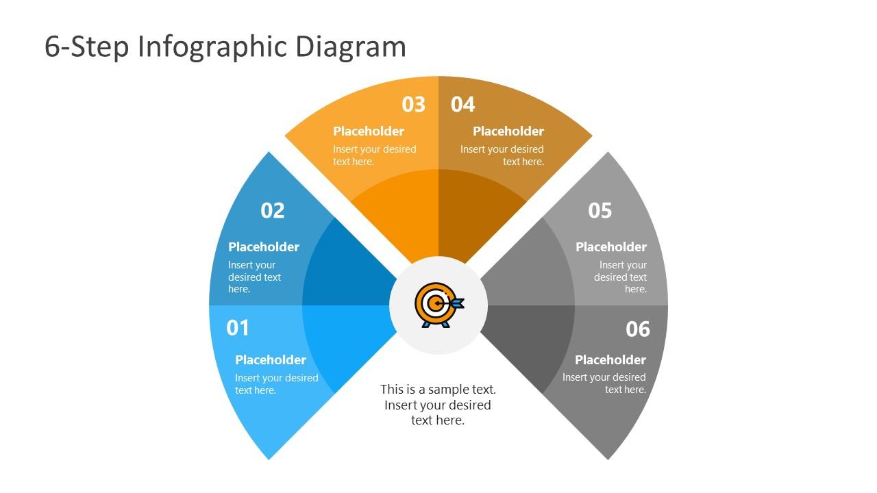Presentation of 6 Steps Infographic Diagram