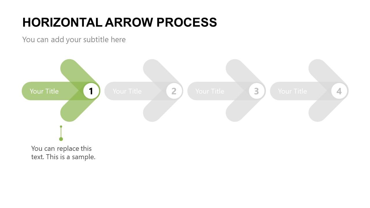Arrow PowerPoint Template Step 1