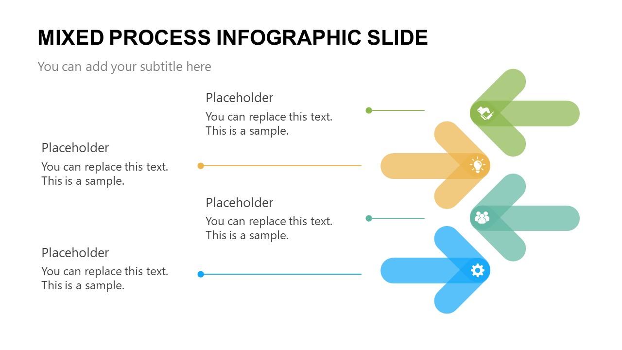 4 Steps Arrow Process PowerPoint