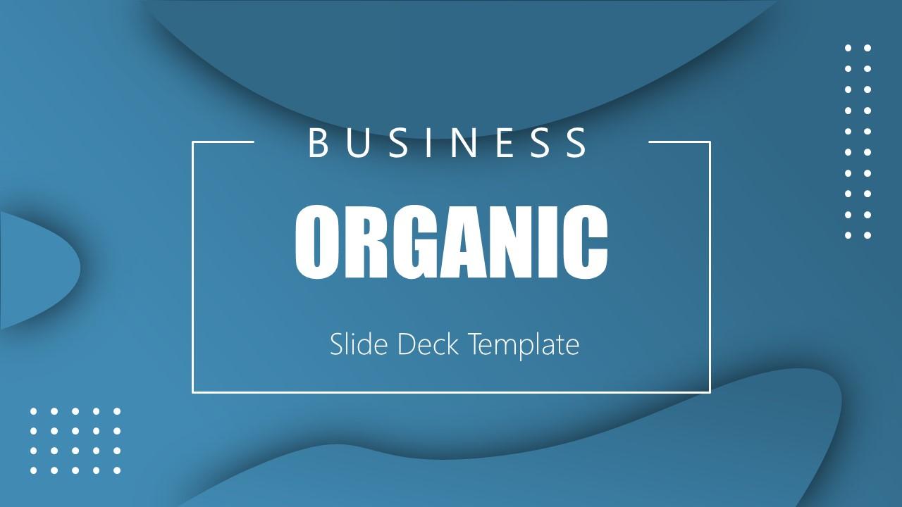 Business Presentation Theme of Organic Shapes