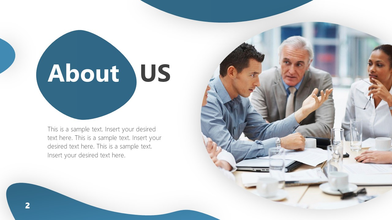 PowerPoint About Us Slide of Company