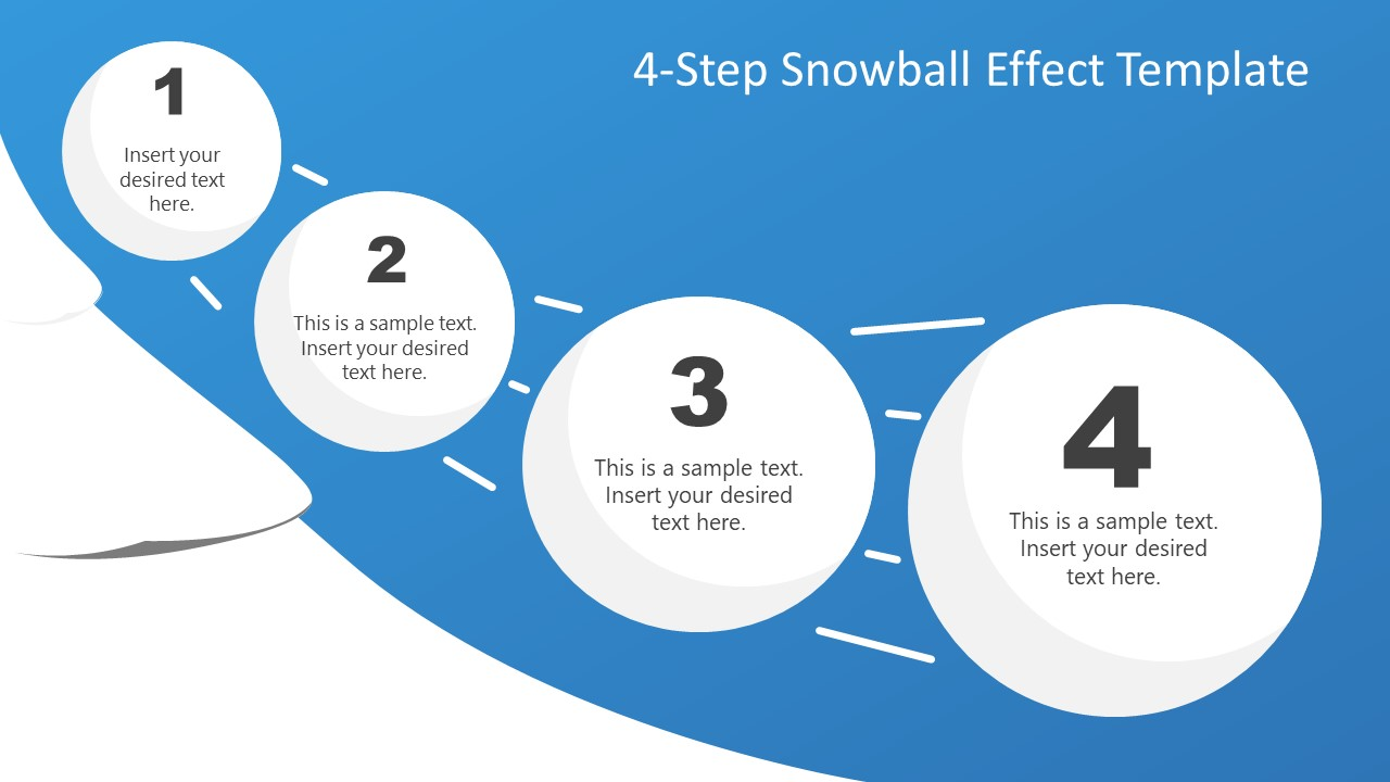 PPT Snowball Diagram Template