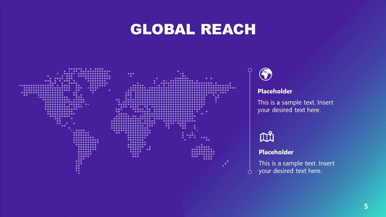 Digital Map Template Technology PowerPoint