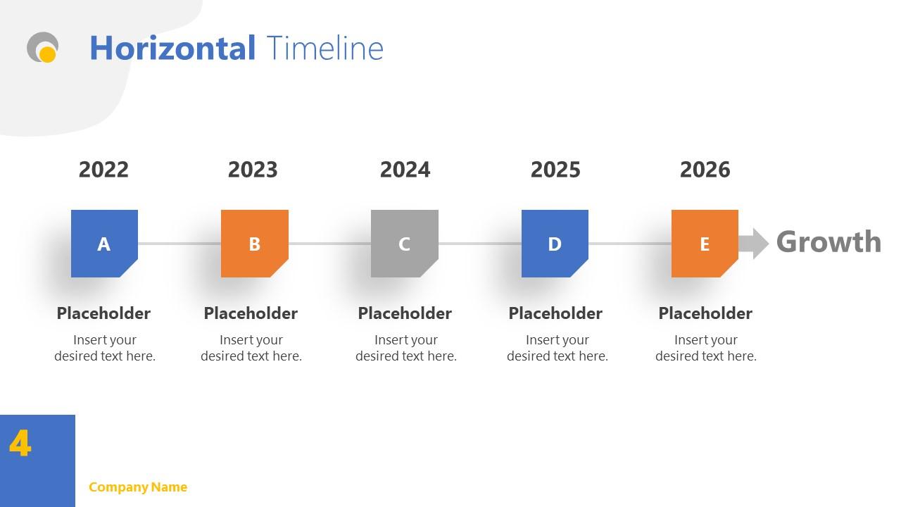Timeline Slide Simple Theme PPT