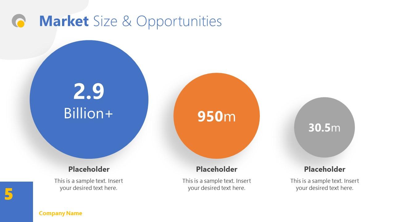 Market Size Slide Simple Theme PPT