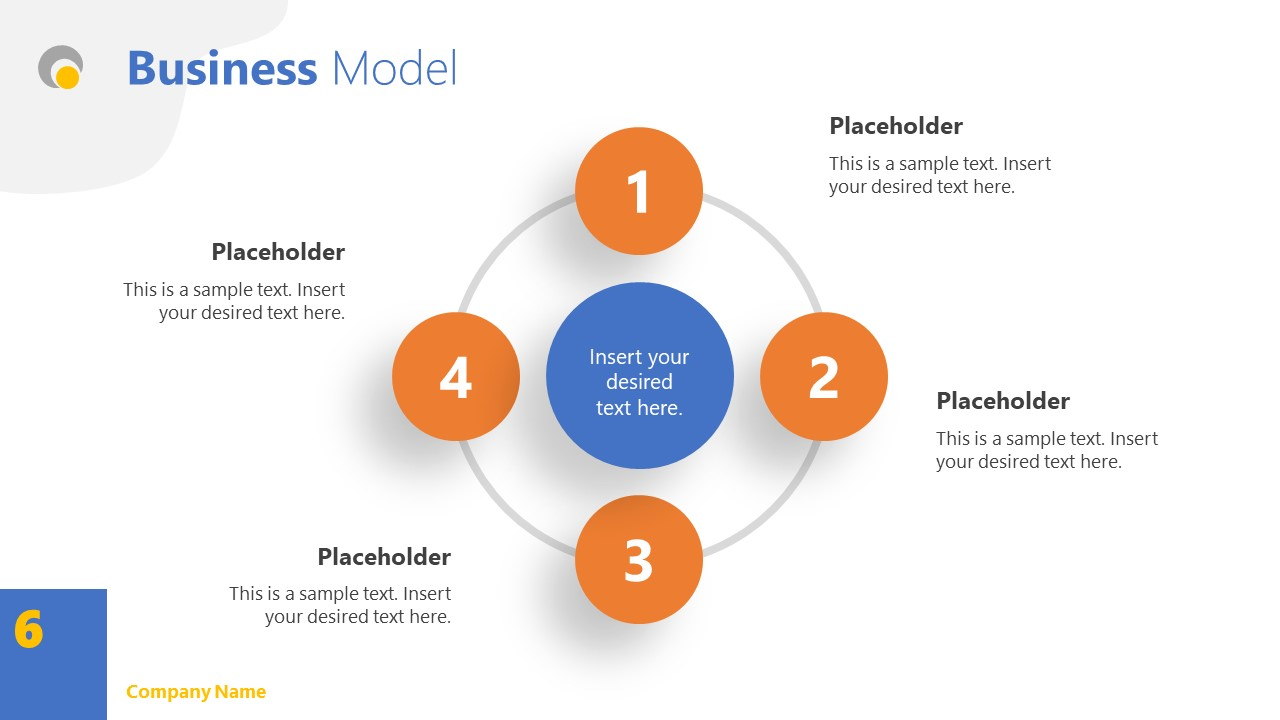 Business Model Slide Simple Theme PPT