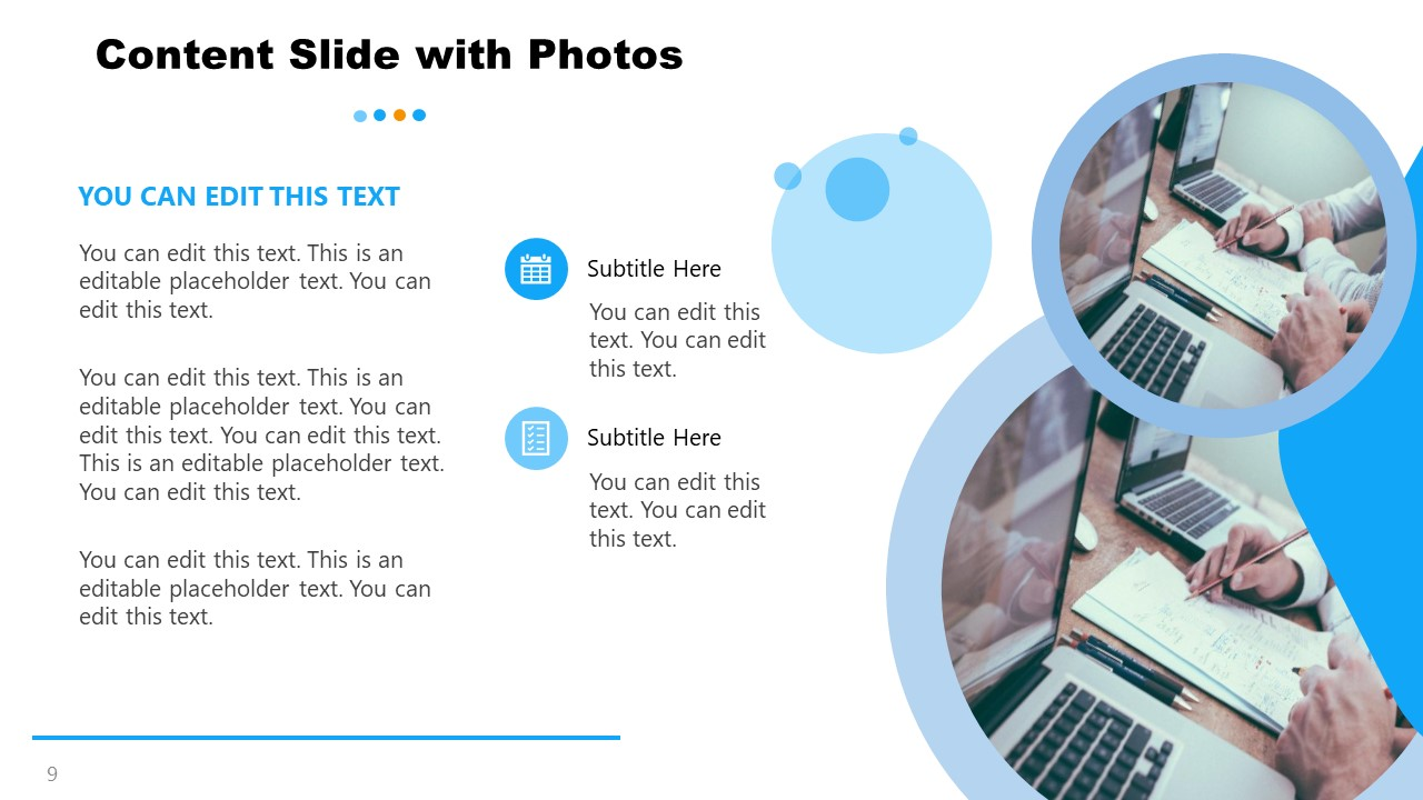 Content Photo Template for General Purpose PowerPoint