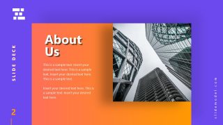 Template of Business Presentation About Us