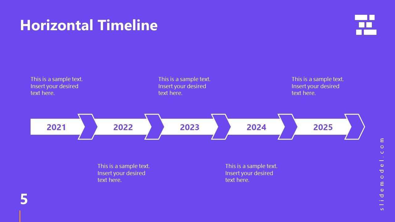 Template of Business Presentation Timeline