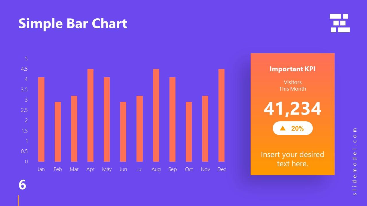 Template of Business Presentation Bar Chart