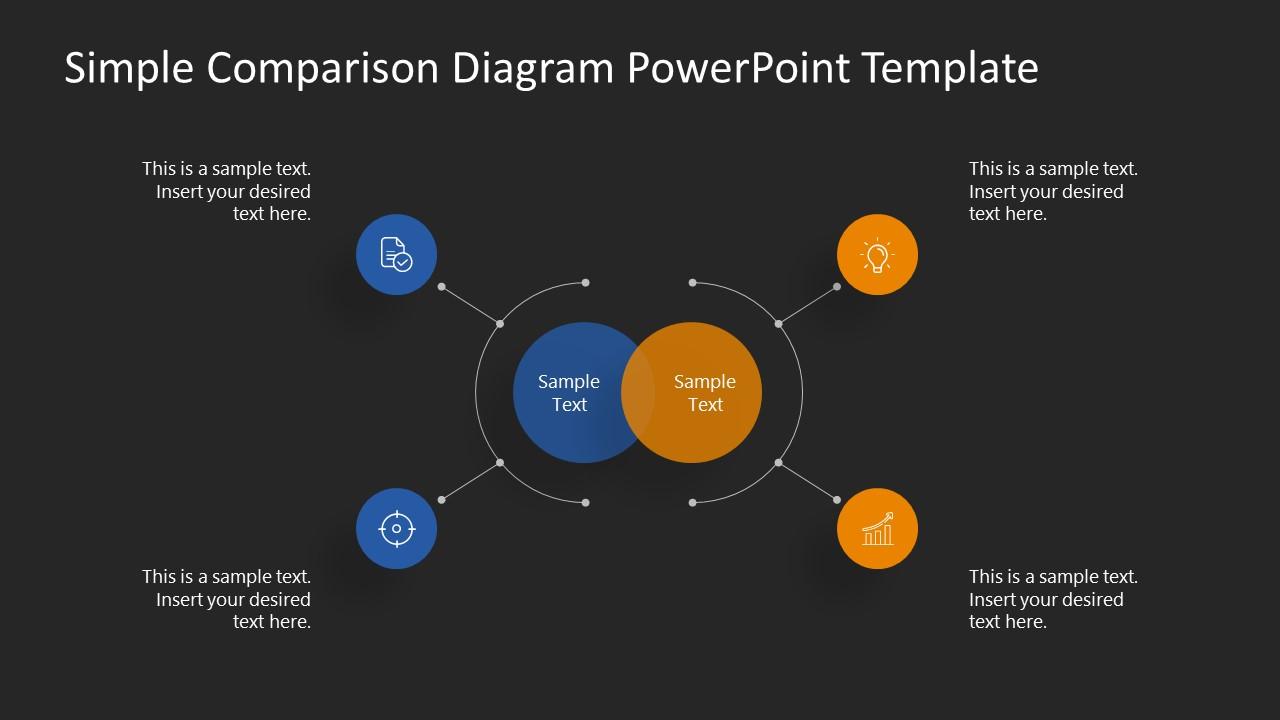 PowerPoint 4 Steps Comparison PPT