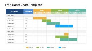 Timeline PowerPoint Gantt Chart Template