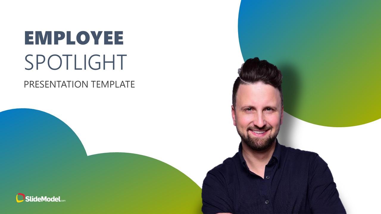 PowerPoint Employee Introduction Spotlight