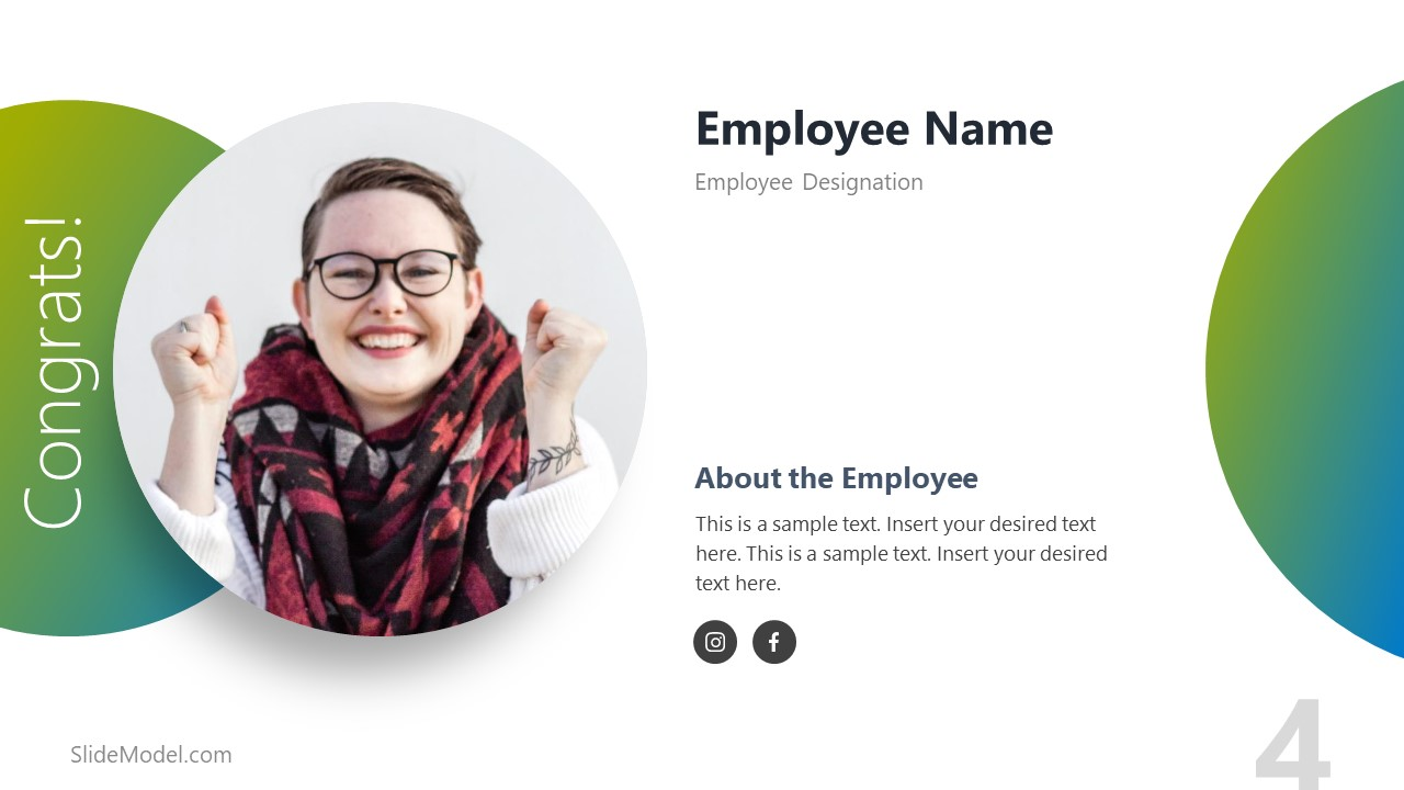 Social Media Connecting Employee Template