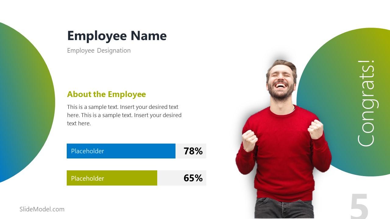 PowerPoint Data Driven Chart Template for Employee Spotlight