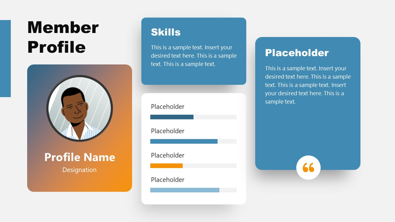 PowerPoint Members Profile Layout