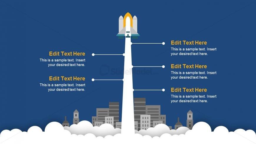 PowerPoint Rocket Roadmap Concept