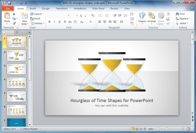 Hourglass Of Time PowerPoint Template