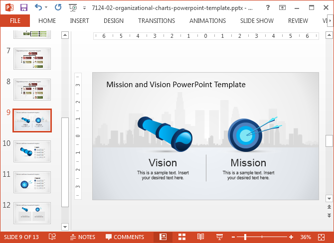 Merged PowerPoint files