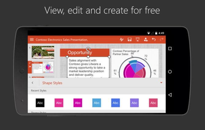 free download microsoft powerpoint 2010 for android
