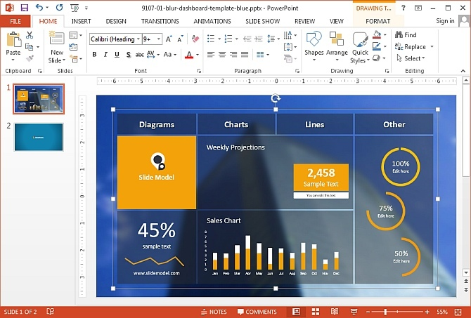 Presenting your content using PowerPoint