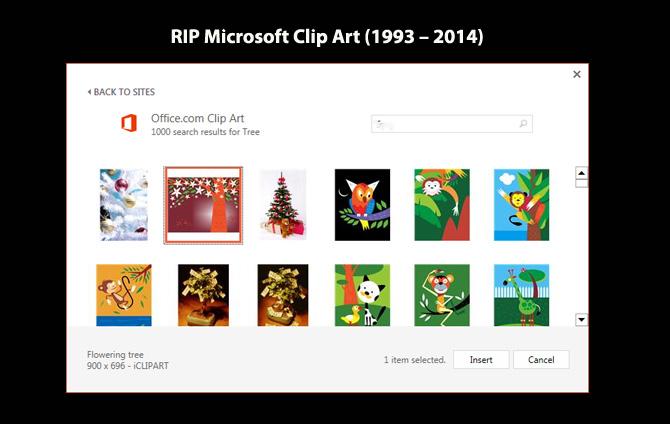 RIP Microsoft Clip Art