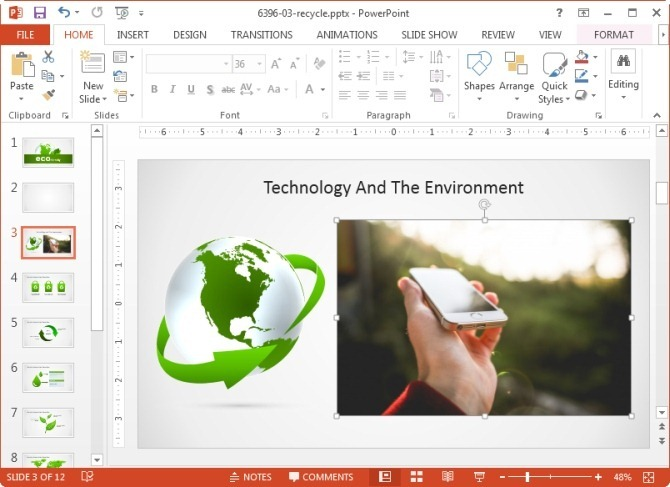 Remove background image in PowerPoint 2013