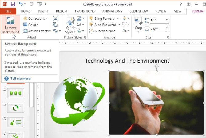Remove photo background using PowerPoint
