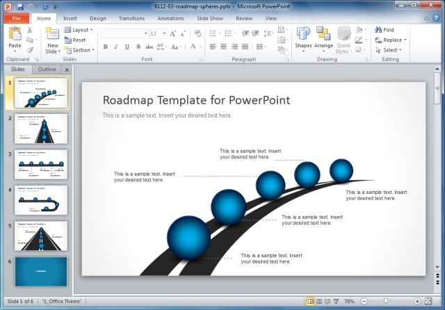 Best Business Plan Templates For PowerPoint – Roadmap Template Free